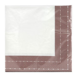 Beaded Rose Gold Luncheon Napkin - 40 count