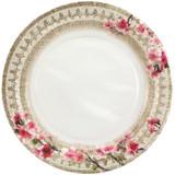 "Burlap Blossom - 10"" Plate"