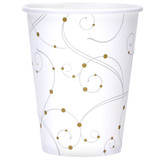 12 oz. Swirls & Pearls Hot/Cold Paper Cup 16ct