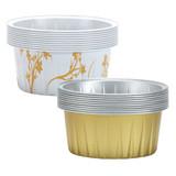 "2 1/2"" Decorative Mini Round Aluminum Baking Pans, Gold 20 Ct."
