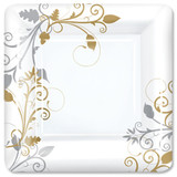 "Bella Vite Shimmer - 10"" Square Plate - 12 Count"