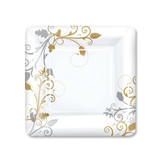 "Bella Vite Shimmer - 7"" Square Plates, 12 Count"