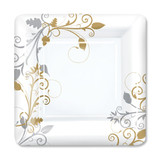 "Bella Vite Shimmer - 9"" Square Plates - 12 Count"