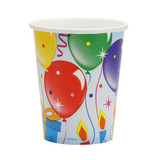 Birthday Balloons  Paper Cups 9 oz. - 12 Count