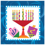 Happy Chanukah Lunch Napkin 40 Count