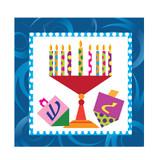 Happy Chanukah Beverage Napkin 75 Count