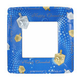 "7"" Chanukah Square Paper Plates 16 Count"