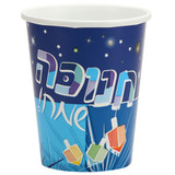 Chanukah Spirit - 9 oz. Paper Cups - 24 Count