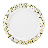"10.25"" Pebbled Gold Plate - 10 count"