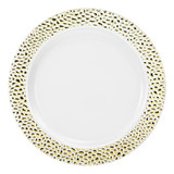 "7.5"" Pebbled Gold Plate - 10 count"