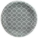 """10"""" Lattice Gray Plate - 24 count"""