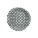"""7"""" Lattice Gray Plate - 48 count"""