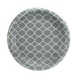 9 In Lattice Gray Plate - 48 count