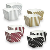 """Elements - 2"""" Square Baking Cups - Assorted Colors - 12 Count"""
