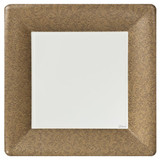 "Gold Texture 10"" Square Dinner Paper Plates 24 Ct."
