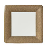 "Gold Texture 7"" Square Dinner Paper Plates 24 Ct."