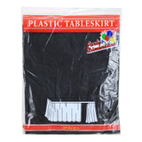 "29"" X 14' Black Plastic Tableskirt"