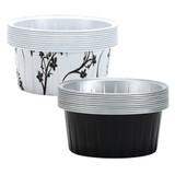 """2 1/2"""" Decorative Mini Round Aluminum Baking Pans - Black 10 Ct."""
