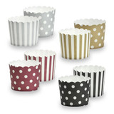 """Elements - 2.25"""" Round Baking Cups - Assorted Colors- 20 Count"""
