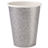 Silver Texture 9oz Hot/Cold Paper Cup 24 Ct.