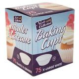 Baking Cups - XLarge White 75 Ct.
