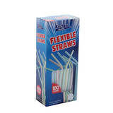 Flexible Straws White (100 Count)