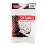 Basic Cutlery Collection, Clear Knives Heavy Weight (50 Count)