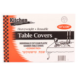 Clear Tablecloths 60x108 (14 Count)