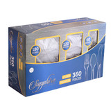 Basic Cutlery Collection, Sapphire Cutlery BOX Combo (360 Count)