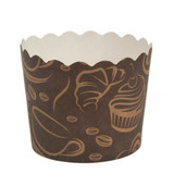 Scalloped coffee Small Baking Cups (20 Count)