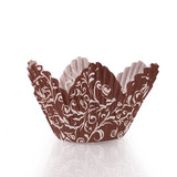Petal Baking Cup Brown Background (30 Count)