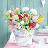 Floral - Spring Bouquet Napkins 13'' x 13'' - 20pk