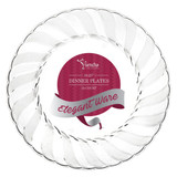 """10"""" Clear Fluted Dinner Plates (18 Count)"""