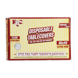 Clear Heavy Duty Tablecloths 66x90 (16 Count)