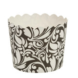 Scalloped black/white design Large Baking Cup (16 Count)