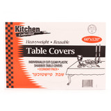 Clear Tablecloths 60x120  (12 Count)