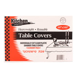 Clear Tablecloths 60x160 (8 Count)