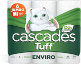 Cascades Tuff Enviro Paper Towels, 2-ply, 105 Sheets per Roll - 6 Double Rolls