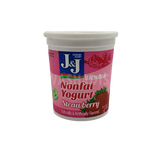 J&J Nonfat Strawberry Yogurt 2lb