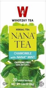 Wissotzky Nana Chamomile Tea 20pk, 30g