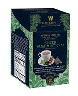 Wissotzky Spiced Nana Mint Chai Tea 16pk, 2.2g