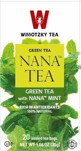 Wissotzky Nana Green Tea 20pk, 44g