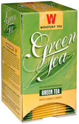 Wissotzky Green Tea With Lemon & Honey 20pk, 30g