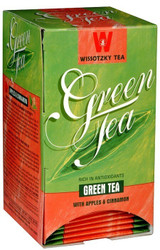 Wissotzky Green Tea With Appes & Cinnamon 20pk, 30g