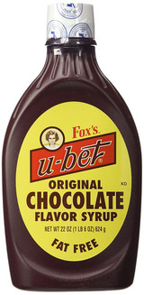 Fox's U-Bet Chocolate Syrup, 20 Oz