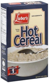 Lieber's Farina Style Hot Cereal, 10  Oz