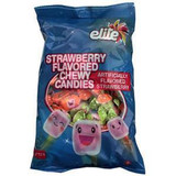 Elite Strawberry Chewy Candy, 200g