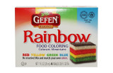 Gefen Rainbow Food Coloring 4pk, 29ml