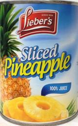 Lieber's Sliced Pineapple, 20 Oz