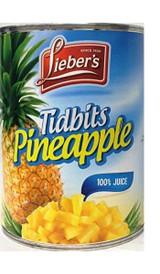 Lieber's Tidbits Pineapple, 20 Oz